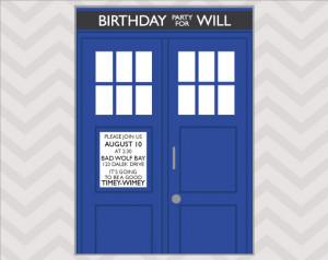 Doctor Who Birthday Card Printable Doctor who birthday invitation