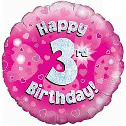 Happy 3rd Birthday Girl 3rd birthday girl balloon