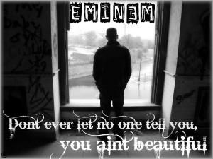 Eminem Beautiful Desktop BG by Eminem-Addict