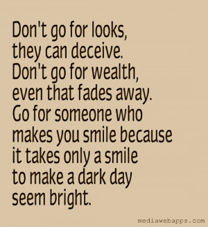 quotes about someone making you smile
