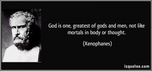 More Xenophanes Quotes