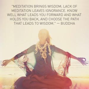 Meditation brings wisdom; lack of meditation leaves ignorance. Know ...