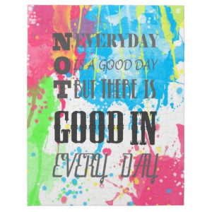 Cool quote colourful vibrant watercolours splatter jigsaw puzzle