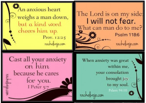 Bible verses about anxiety.