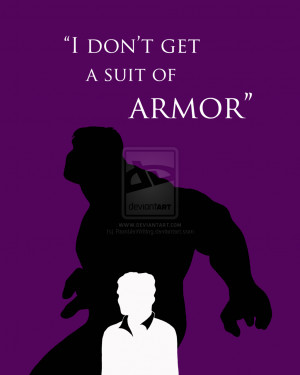 Hulk silhouette and quote by RambleWriting