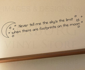 Wall-Decal-Sticker-Quote-Vinyl-Art-Letter-Footprints-on-the-moon ...