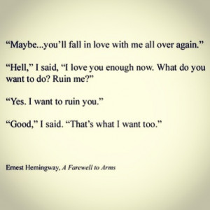 Ernest Hemingway, A Farewell to Arms quote