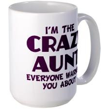 crazy aunt Large Mug for