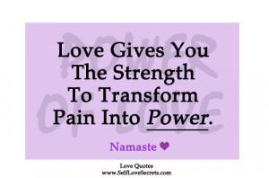 love strength