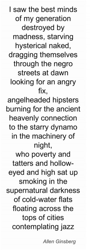 Allen Ginsberg, les premières lignes du poème culte de la Beat ...