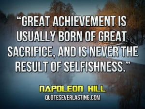 inspirational quotes on selfishness