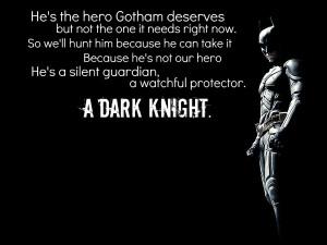 Speech about the Dark Knight