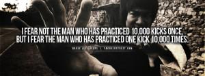Bruce Lee Practice Kicks Quote Bruce Lee Goal Quote
