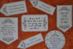 Alice in Wonderland Mad Hatter Tea Party Quotes and Sayings pdf ...