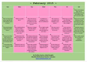 ... thoughts calendar 2015 february motivational thoughts calendar