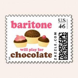 Funny Chocolate Themed Baritone Music Gift