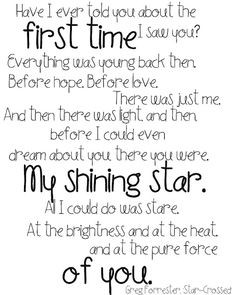 since the first time i saw you