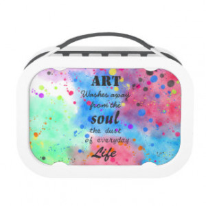 Cool watercolour famous quote lunch box