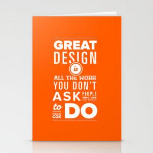 Quotes on Design - Poster #1: Rebekah Cox of Quora Stationery Cards