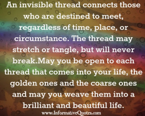 An invisible thread connects those who are destined to meet