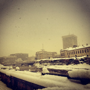 Kabul #city covered in #snow. #2014.