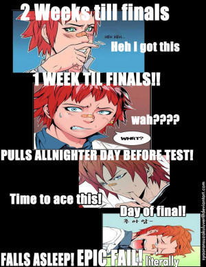 What We All Know What Really Happens On Finals by Syaoran-SuzakuLuver