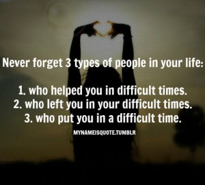 Never forget 3 types of people in your life... #quotes #never #forget ...