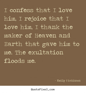 Emily Dickinson Love Quote Print On Canvas