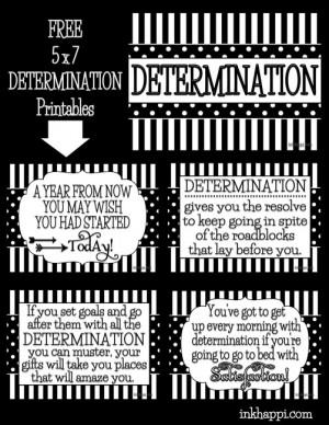 determination prints Quotes About Determination