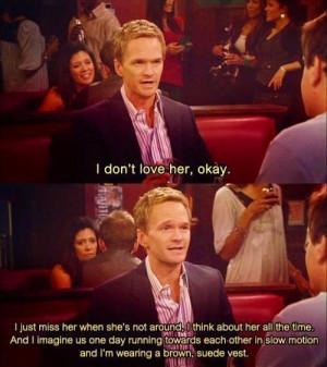 Barney Stinson Tries Denying He's In Love With Robin On How I Met ...