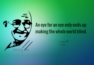 Mohandas Gandhi Nonviolence Quotes Mahatma Gandhi NonViolent quote Non ...