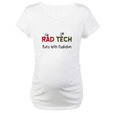 RAD TEch runs with radiation.PNG Maternity T-Shirt for