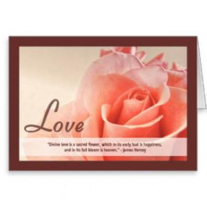 Christian Valentine's Day Card with Quote Greeting Card