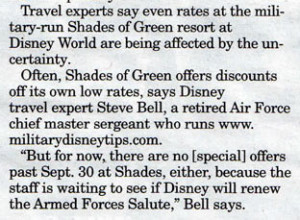 Military Disney Tips Quoted in Military Times Newspapers Off Duty ...