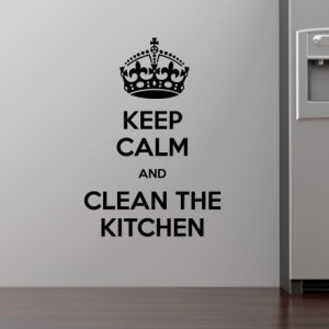 how to keep kitchen clean