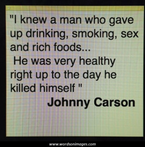 Johnny carson quotes