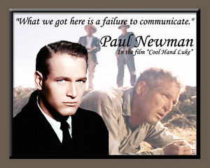 Details about PRINT OF PAUL NEWMAN, ACTOR, AND ONE OF HIS QUOTES