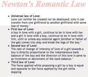Newton's Romantic Law