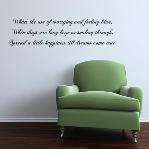 custom spread a little happiness wall quote ref stp009 this wall quote ...