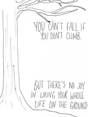 black and white, cute, drawing, inspiring, live, living, quote, text