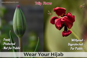 Picture Perfect : Tulip Flower & Hijab