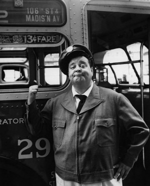 Jackie Gleason as Ralph Kramden from the TV sitcom The Honeymooners ...