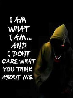 AM WHAT I AM