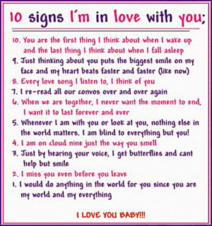 10 Signs I am in Love With You