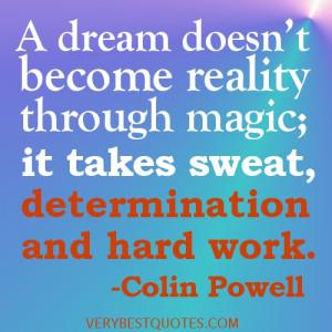 sweat determination and hard work motivation inspiration quote
