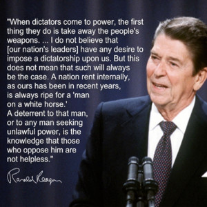 Ronald Reagan On Gun Control