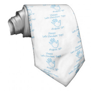 Left Handers Day Necktie