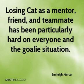 Emileigh Mercer - Losing Cat as a mentor, friend, and teammate has ...