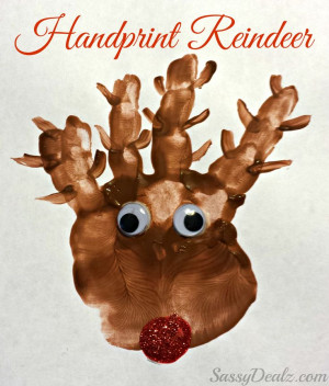 Reindeer Christmas Craft For Kids (Paint Art Project) #Rudolph ...