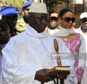 Yahya Jammeh and Wife
